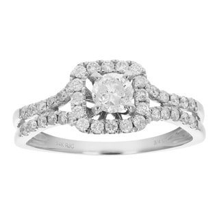 3 4 Cttw Diamond Engagement Ring 14K White Gold