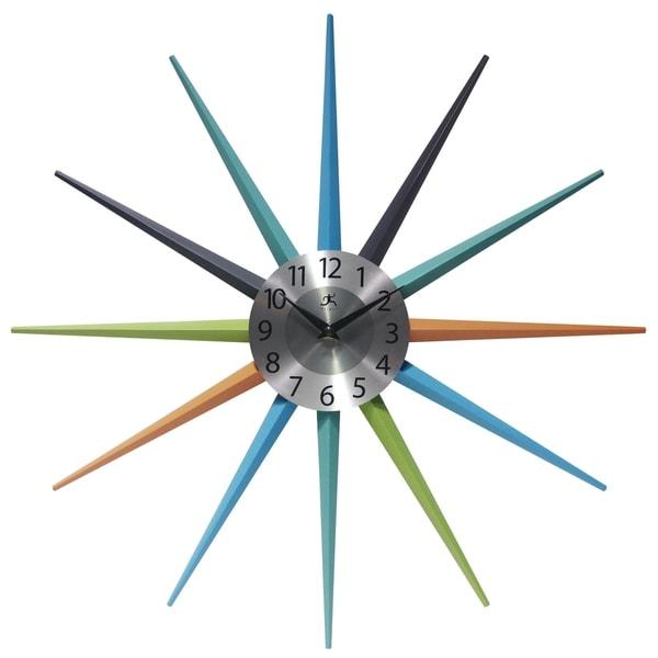 Stellar Mid-Century Modern Multicolor Starburst Unique Wall Clock. Opens flyout.