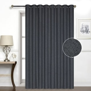 Porch & Den Chalmers Total Black-Out Patio Panel (Charcoal Grey)