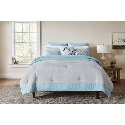 Ellen Degeneres Riverside Blue Duvet Cover Set