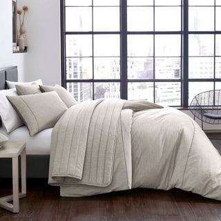 City Scene Pixel Grey Duvet Cover Set