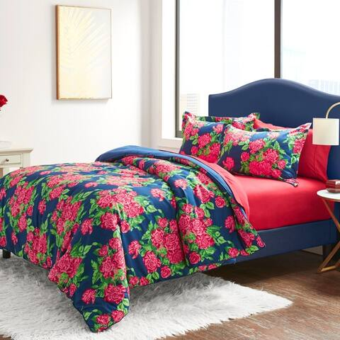 Betsey Johnson Bountiful Bouquet Navy Bonus Comforter Set