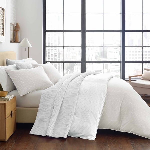 City Scene Demi Beige Duvet Cover Set