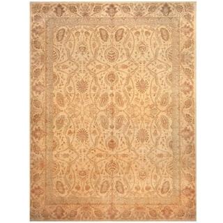 Handmade One-of-a-Kind Vegetable Dye William Morris Wool Rug (Afghanistan) - 10'4 x 13'7