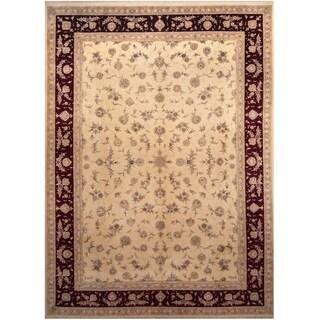 Handmade One-of-a-Kind Tabriz Wool and Silk Rug (India) - 10' x 14'