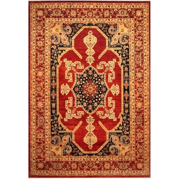 Handmade One-of-a-Kind Vegetable Dye Serapi Wool Rug (Afghanistan) - 10'3 x 14'9