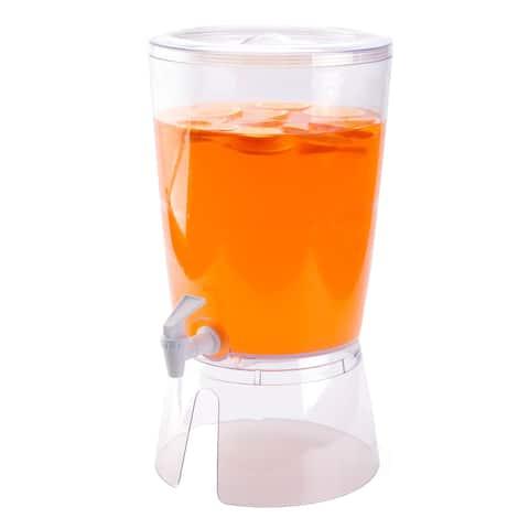 Juice and Water Beverage Dispenser 2.35 gallon, Round