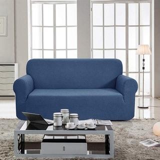 Enova Home Jacquard Polyester Spandex Fabric Box Cushion Sofa Slipcovers