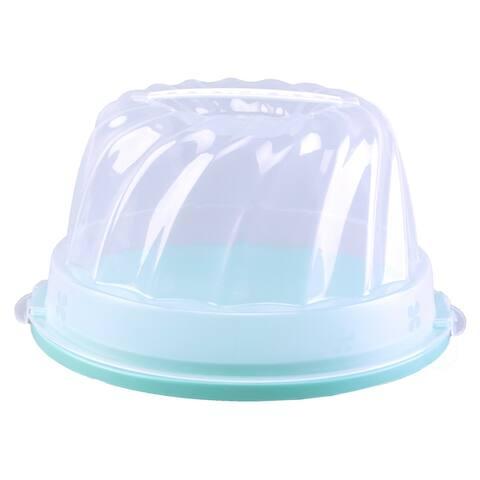 Plastic Portable Round Cake Caddy Server Holder