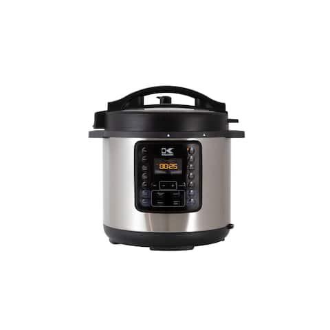 Kalorik 8QT 10-in-1 Multi Use Pressure Cooker, Stainless Steel