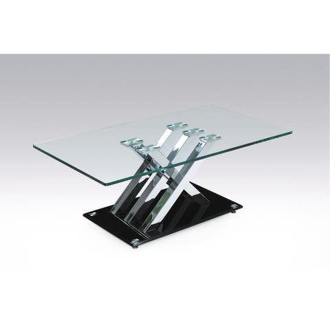 Amara Coffee Table, Black/Silver