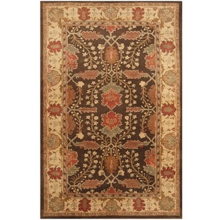 Handmade One-of-a-Kind Mahal Wool Rug (India)