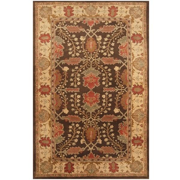 Handmade One-of-a-Kind Mahal Wool Rug (India)