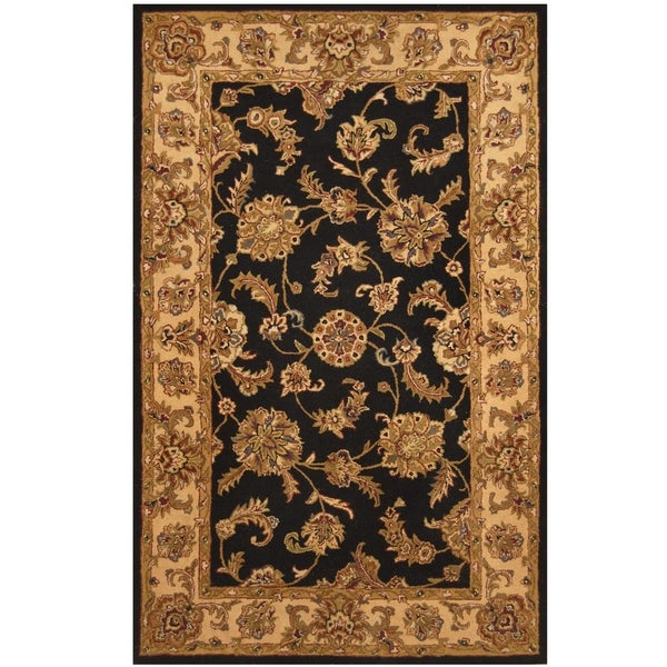 Handmade One-of-a-Kind Mahal Wool Rug (India) - 5' x 8'. Opens flyout.