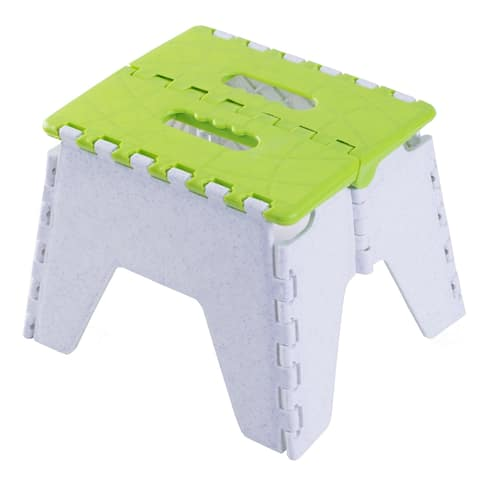 Folding Adults Kids Kitchen, Bathroom, and Bedroom Step-stool, Green