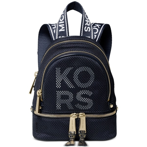 af07ca2dadc6 Shop MICHAEL Michael Kors Rhea Zip Extra Small Backpack Admiral/Gold ...