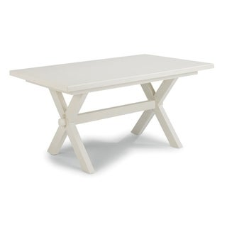 Seaside Lodge Wire Brushed White Wood Dining Trestle Table