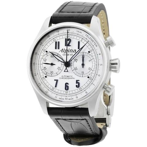 Alpina Men's AL-860SCP4S6 'Startimer Pilot' Chronograph Black Leather Watch