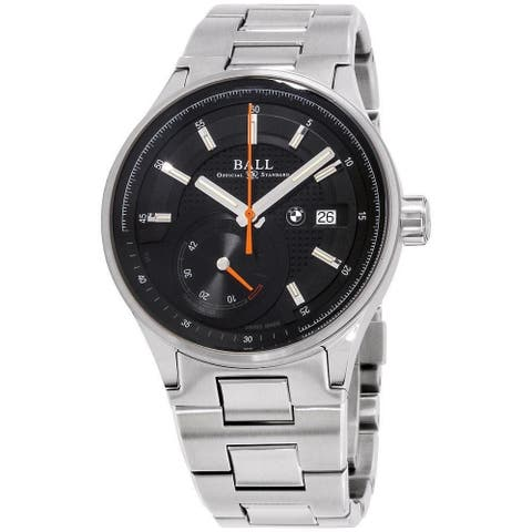Ball Men's PM3010C-SCJ-BK 'BMW' Black Dial Stainless Steel Power Reserve Swiss Made Mechanical Automatic Watch