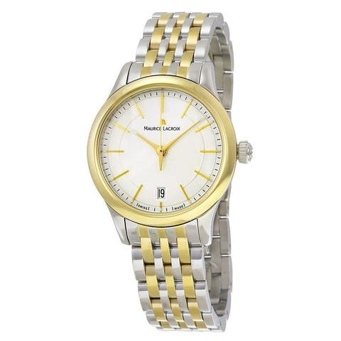 Maurice Lacroix Women's LC1026-PVY13-130 'Les Classiques Date' Two-Tone Stainless Steel Watch