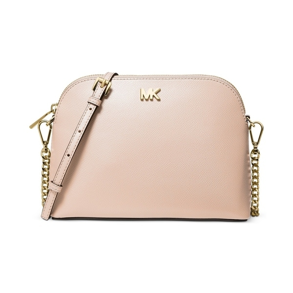 5e53a8637f30a9 MICHAEL Michael Kors Crossgrain Leather Dome Crossbody Pale Pink/Gold