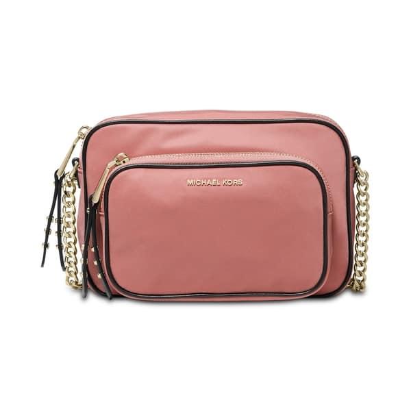229f5c51f Shop MICHAEL Michael Kors Leila Nylon Camera Bag Rose/Gold - Free ...