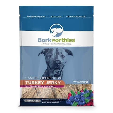 Barkworthies Turkey w/ Cranberry & Blueberry Superfood Jerky (4 oz. ) - 04 oz