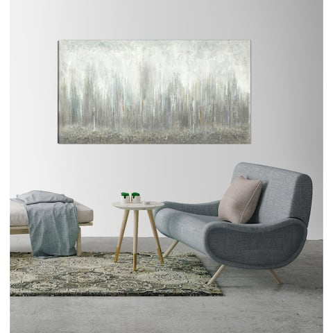 ArtMaison Canada, Abstract , Gray Caves Giclee Gallery Wrapped Canvas Wall Art Décor