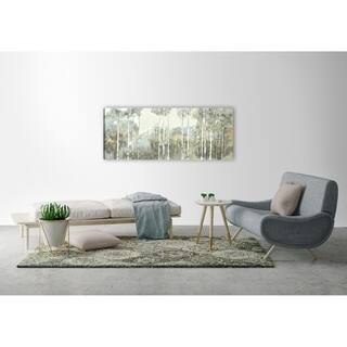 ArtMaison Canada, Landscape Birch View I Giclee Gallery Wrapped Canvas Wall Art Décor
