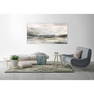ArtMaison Canada,Landscape Bird Flock I Giclee Gallery Wrapped Canvas Wall Art Décor