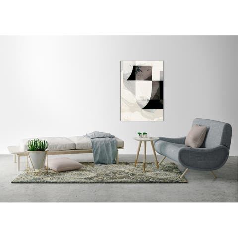 ArtMaison Canada,Monochromatic Structural Abstract I Giclee Gallery Wrapped Canvas Wall Art