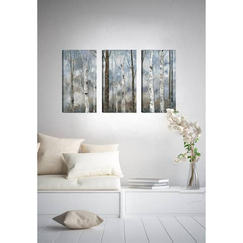 Birch Woodland Landscape II Giclee Gallery Wrapped Canvas Wall Art by Irina K.