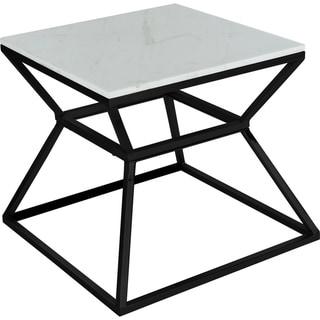 Silver Orchid Boardman Marble Side Table (Regular - Black)