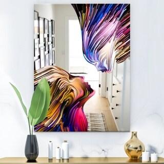 Designart 'Metaphorical Mind Painting' Modern Mirror - Wall Mirror - Blue