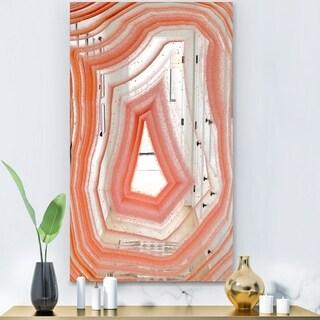 Designart 'Geode 2' Modern Mirror - Wall Mirror - White