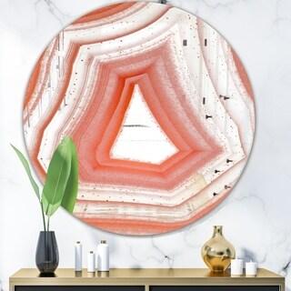 Designart 'Geode 2' Modern Mirror - Oval or Round Wall Mirror - White