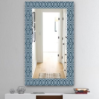 Designart 'Scandinavian 4' Mid-Century Mirror - Frameless Vanity Mirror - Blue