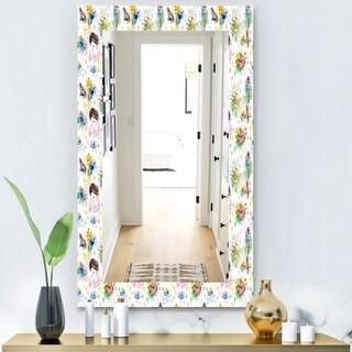 Designart 'Beauty and Fashion Pattern' Modern Mirror - Frameless Wall Mirror - White