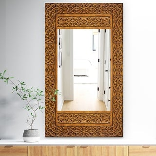 Designart 'Old Door' Traditional Mirror - Decorative Mirror - Brown