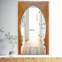 Designart 'Ancient Door Morroco' Traditional Mirror - Large Wall Mirror - Gold
