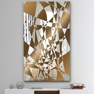 Designart 'Copper Spruce 1' Mid-Century Mirror - Wall Mirror - Blue