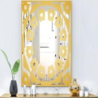 Designart 'Capital Gold Lively 10' Glam Mirror - Wall Mirror