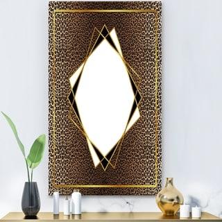 Designart 'Leopard 6' Glam Mirror - Modern Large Wall Mirror - Gold