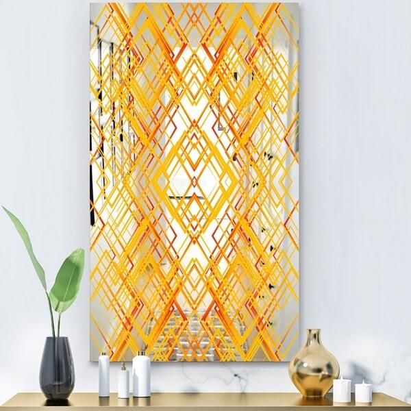Designart 'Capital Gold Jangle 1' Glam Mirror - Modern Accent Mirror