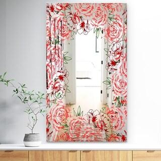 Designart Garland Vivid 2 Farmhouse Mirror (27.5 in. wide x 47.4 in. high)