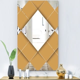 Designart 'Flipped Squares' Modern Mirror - Wall Mirror - Gold