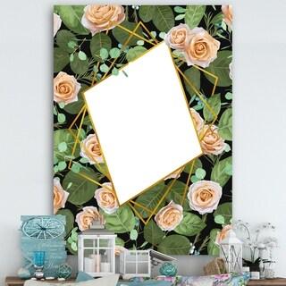 Designart 'Elementary Botanicals 10' Cabin and Lodge Mirror - Large Wall Mirror - Green