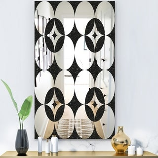 Designart 'Copper Spruce 2' Modern Mirror - Contemporary Large Wall Mirror - Black