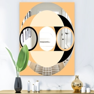 Designart Spacy Dimensions 12 Multicolor Mid-century Large Wall Mirror (29.5 in. wide x 39.4 in. high)
