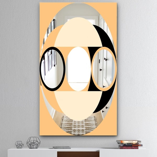 Designart 'Spacy Dimensions 12' Mid-Century Mirror - Large Wall Mirror - Multi